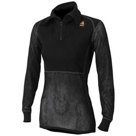 Aclima W's Woolnet Polo Zip Black
